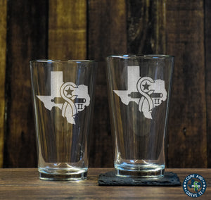 Texas Chive Pint Glass Set