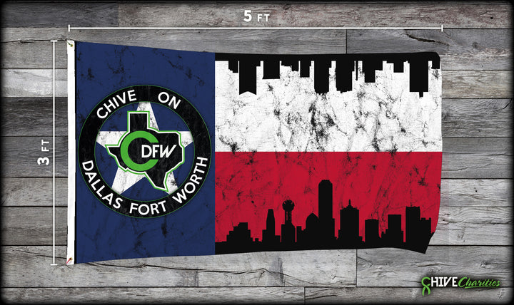 Chive On DFW Flag