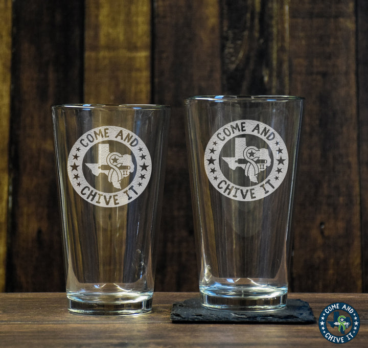 Come and Chive It Pint Glass Set