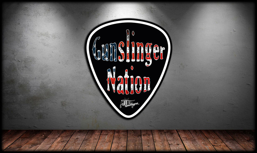 Gunslinger Nation Pick Sticker