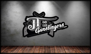 JT & The Gunslingers Logo Sticker
