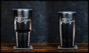 JT & The Gunslingers Logo Tumbler