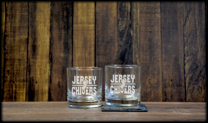 Jersey Devil Chivers Low Ball Glass Set