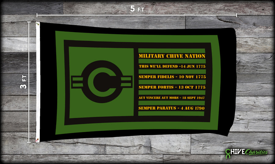 Military Chive Nation Flag