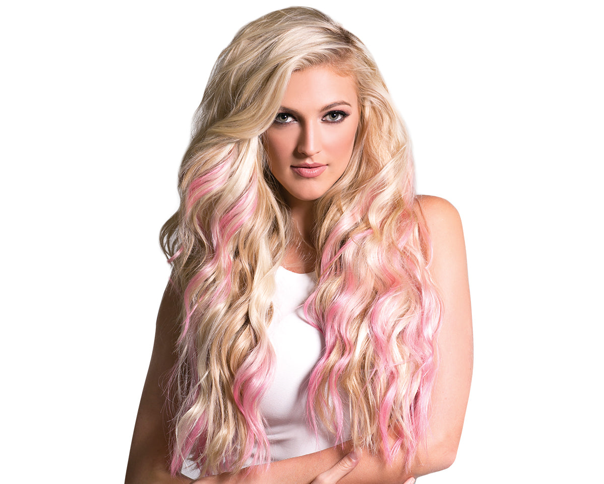 prism and tape in hair extensions halocouture