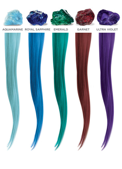 halocouture prism colored tape in hair extensions swatch colors