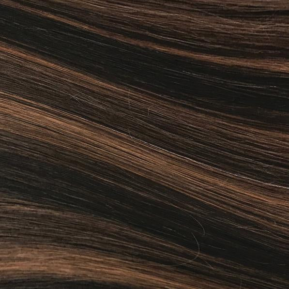 Machine Tied Weft - 1B/30 | Dark Brown with Auburn Highlights