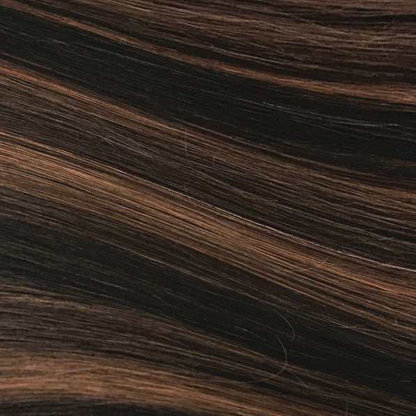 Hand Tied Weft - 1B/30 | Dark Brown with Auburn Highlights