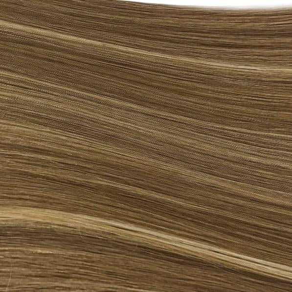Machine Tied Weft - 5/24 | Medium / Light Brown with Highlights