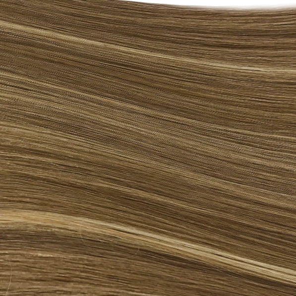 Hand Tied Weft - 5/24 | Medium / Light Brown with Highlights