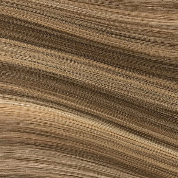 Hand Tied Weft - 622 | Warm Blonde with High & Low Lights