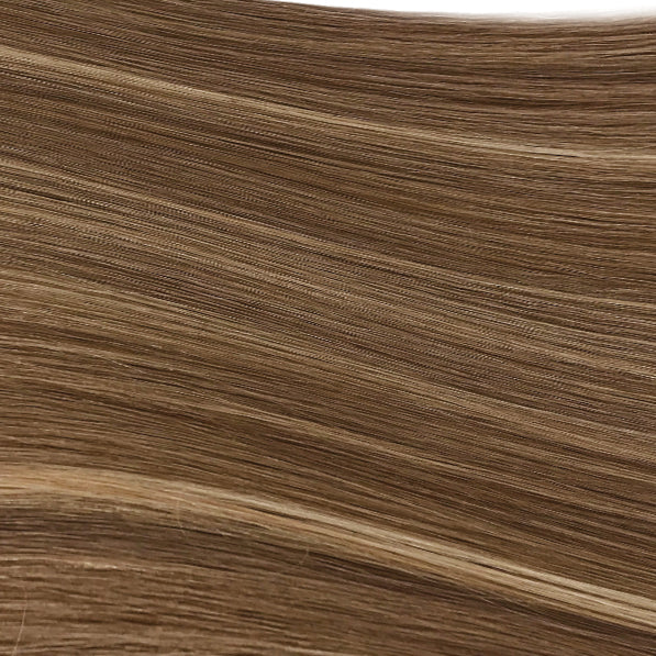 Hand Tied Weft - 812 | Natural Dark Blonde with Subtle Highlights