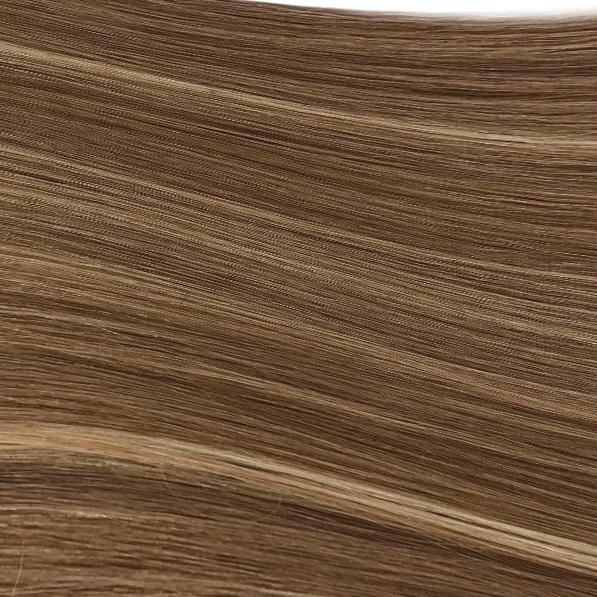 Machine Tied Weft - 812 | Natural Dark Blonde with Subtle Highlights