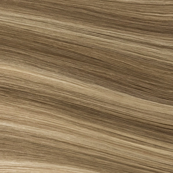 Hand Tied Weft - 882 | Ash Blonde with Cool Highlights