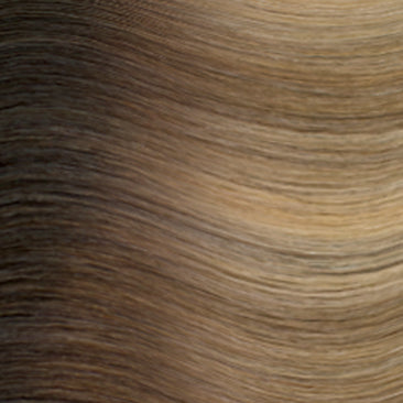 Hand Tied Weft - Rooted R622 | Warm Blonde with High & Low Lights Rooted with Level 5 Neutral