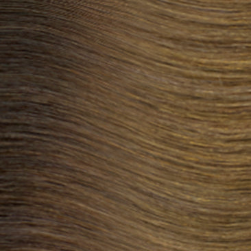 Hand Tied Weft - Rooted R6 | Lightest Brown / Darkest Blonde Rooted with #2, Level 4/5 Neutral