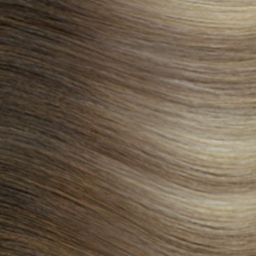 Hand Tied Weft - Rooted R882 | Ash Blonde with Cool Hightlights Rooted with #3, Level 5/6 Neutral