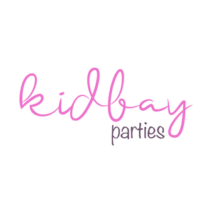 Kidbay Parties logo. Children and adult party catering South London.