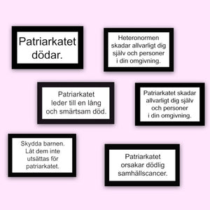 PATRIARKATET - STICKER PACK