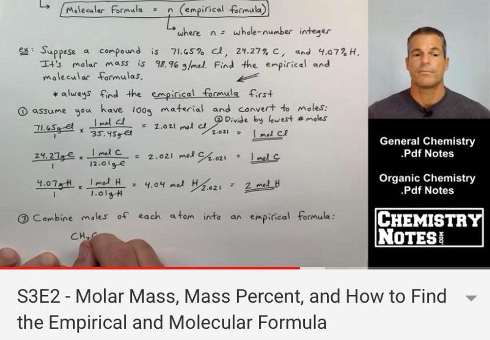 Chemistry Lectures YouTube