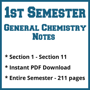 First Semester General Chemistry Notes