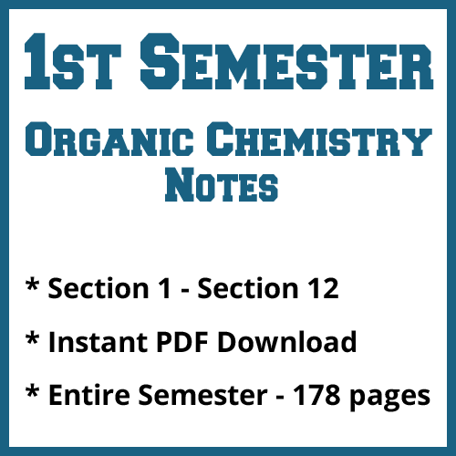 First Semester Organic Chemistry Notes
