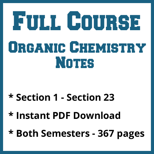 Full Course Organic Chemistry Notes