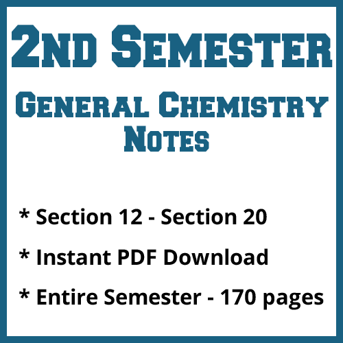 Second Semester General Chemistry Notes