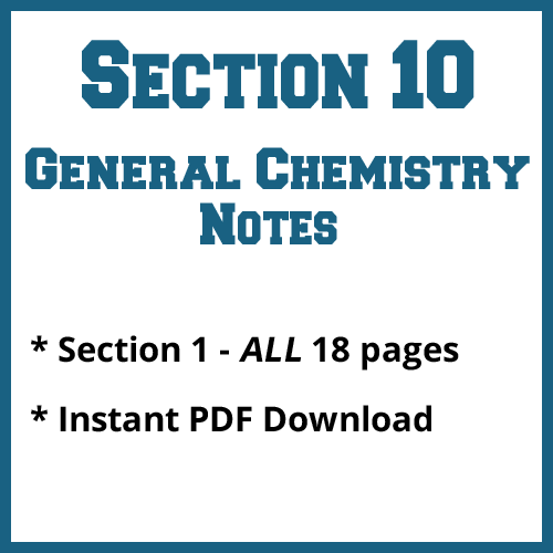 Section 10 General Chemistry Notes