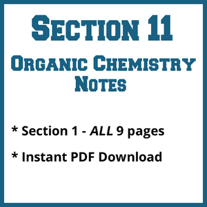 Section 11 Organic Chemistry Notes