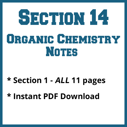 Section 14 Organic Chemistry Notes