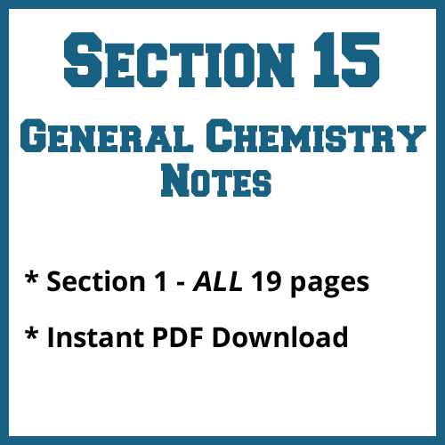 Section 15 General Chemistry Notes