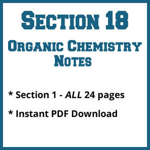 Section 18 Organic Chemistry Notes