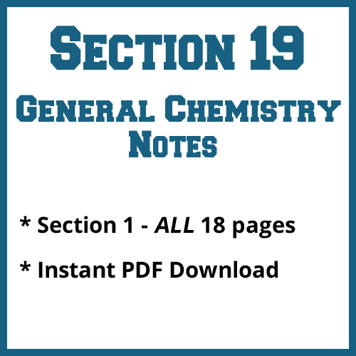Section 19 General Chemistry Notes