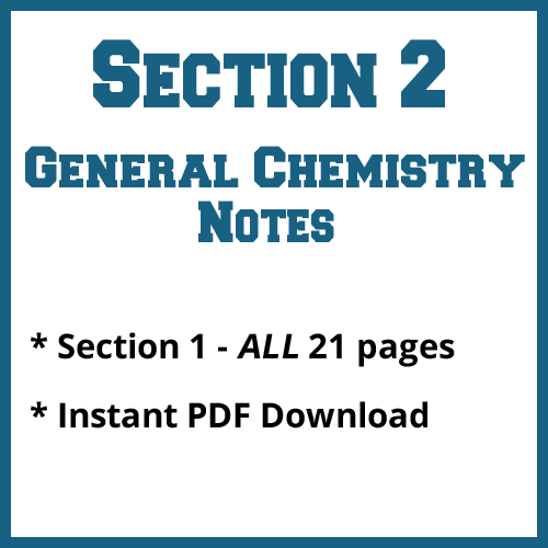 Section 2 General Chemistry Notes