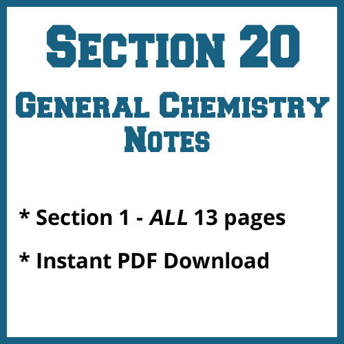 Section 20 General Chemistry Notes