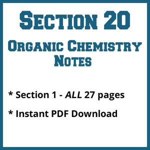 Section 20 Organic Chemistry Notes