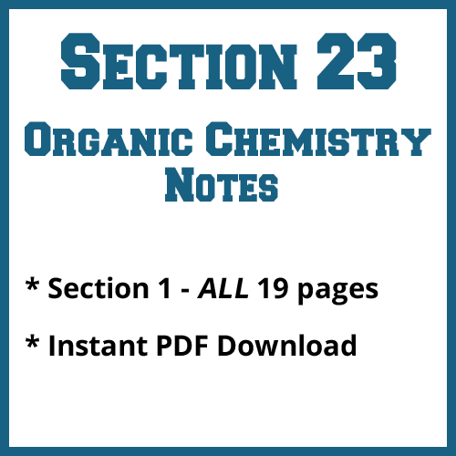 Section 23 Organic Chemistry Notes
