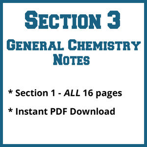 Section 3 General Chemistry Notes