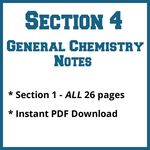 Section 4 General Chemistry Notes