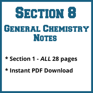 Section 8 General Chemistry Notes