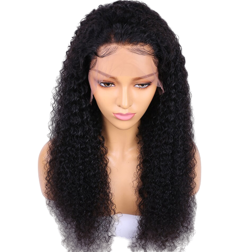 Brazilian Deep Curly Lace Front Wig with Pre Plucked Hairline