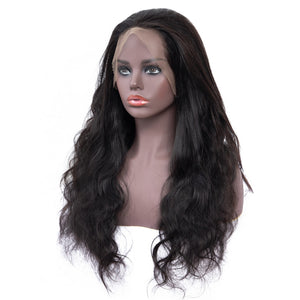 Brazilian Glueless 360 Body Wave Lace Frontal Wig  with Pre Plucked Baby Hair