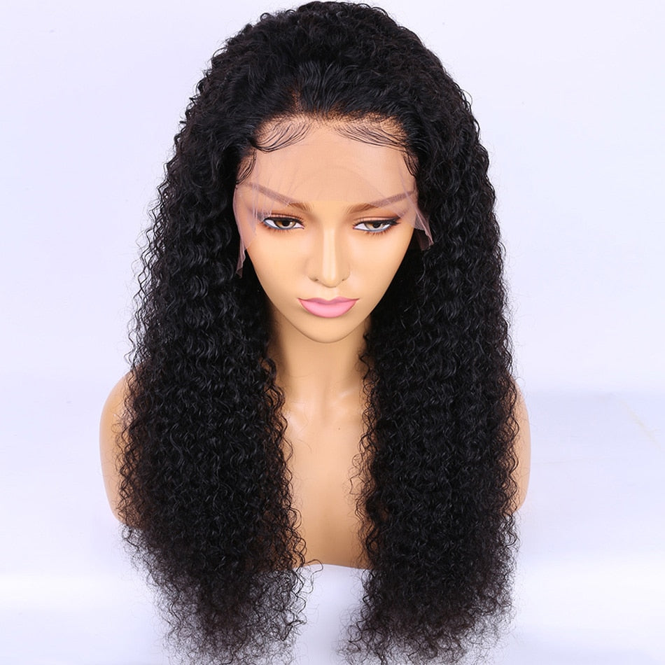 Malaysian Deep Curly Wave Lace Front Wig