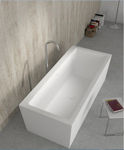 Freestanding Rectangular Bathtub - Much More Decor