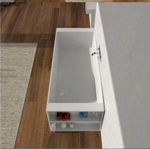 Freestanding square bathtub - Much More Decor