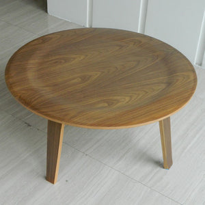 Round Plywood Coffee Table - Much More Decor
