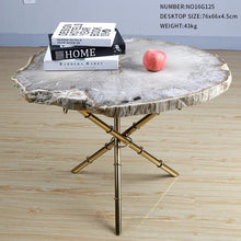 Natural Petrified Wood Fossil End Table - Much More Decor