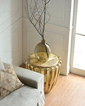 Gold and Wood Tea Table - Much More Decor