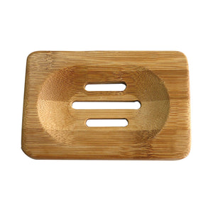 Bamboo Wooden Soaps Dish - Much More Decor